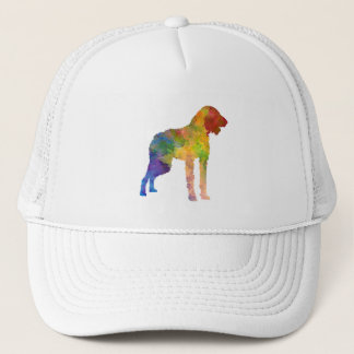 German Wirehaired Pointer in watercolor Trucker Hat