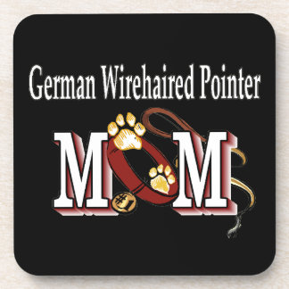 German Wirehaired Pointer Mom Gifts Drink Coaster