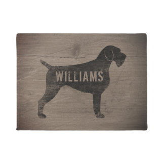 German Wirehaired Pointer Silhouette Custom Doormat