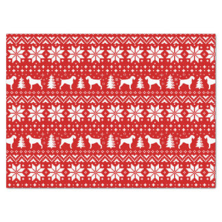German Wirehaired Pointer Silhouettes Christmas Tissue Paper