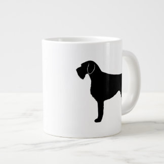 German Wirehaired Pointer Silhouettes Large Coffee Mug