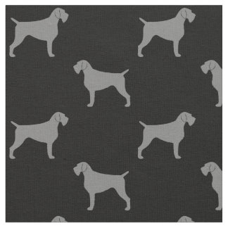 German Wirehaired Pointer Silhouettes Pattern Fabric