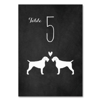 German Wirehaired Pointers Wedding Table Card