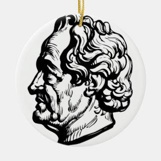 German writer Goethe Ceramic Ornament