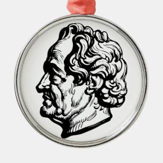 German writer Goethe Metal Ornament