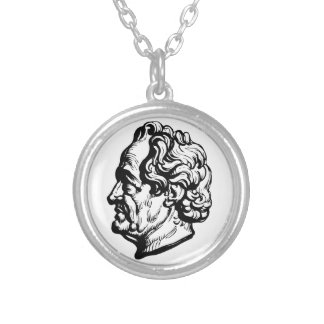 German writer Goethe Silver Plated Necklace