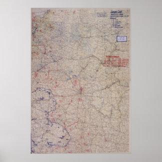 German WW2 Battle Map! Russia! Poster