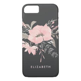 Germanium Floral Watercolor Custom Slate Gray iPhone 8/7 Case