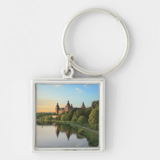 Germany, Aschaffenburg, Schloss (castle) Silver-Colored Square Keychain