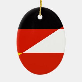 Germany-Austria Flag Ceramic Ornament