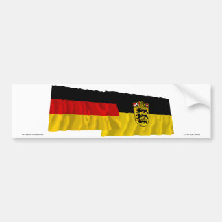 Germany & Baden-Wuerttemberg Waving Flags Bumper Sticker
