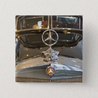 Germany, Baden-Wurttemberg, Stuttgart. Mercedes 2 Inch Square Button