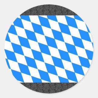 Germany Bavaria Flag Classic Round Sticker