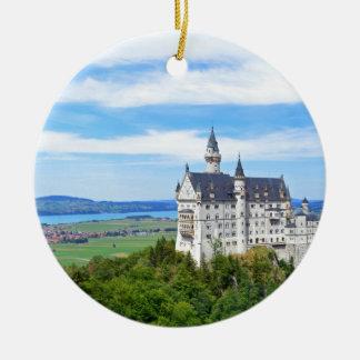 Germany, Bavaria, Neuschwanstein castle -eop Round Ceramic Ornament