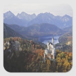 Germany, Bavaria, Neuschwanstein Castle. King Square Sticker