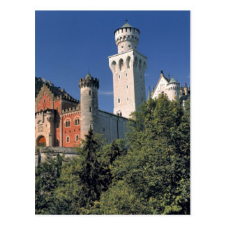 Germany, Bavaria, Neuschwanstein Castle. Postcard