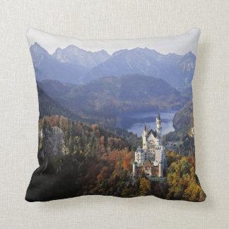 Germany, Bavaria, Neuschwanstein Castle. Throw Pillow