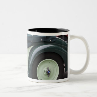 Germany, Bayern-Bavaria, Munich. BMW Welt Car 4 Two-Tone Coffee Mug