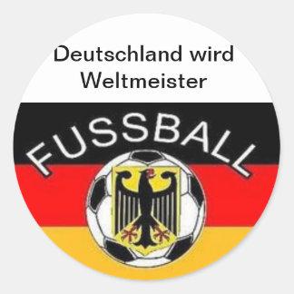Germany becomes world champion classic round sticker