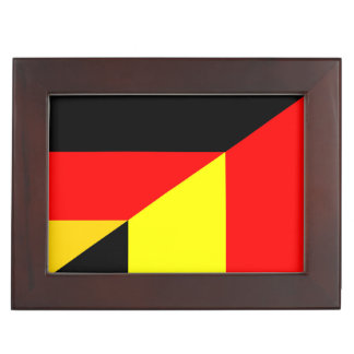 germany belgium half flag country symbol keepsake box