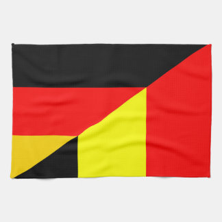 germany belgium half flag country symbol kitchen towel