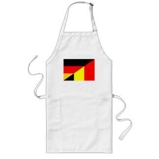 germany belgium half flag country symbol long apron