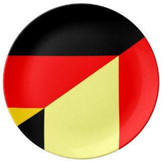 germany belgium half flag country symbol plate