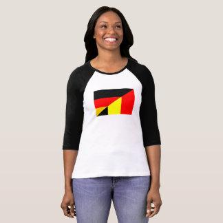 germany belgium half flag country symbol T-Shirt