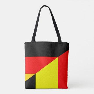 germany belgium half flag country symbol tote bag