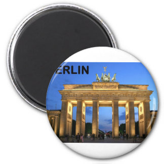 Germany Berlin Brandenburger Tor abends 2 Inch Round Magnet
