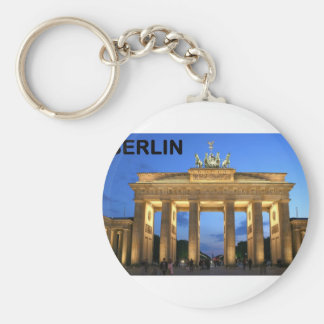 Germany Berlin Brandenburger Tor abends Basic Round Button Keychain