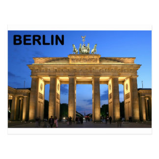 Germany Berlin Brandenburger Tor abends Postcard