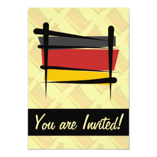 Germany Brush Flag 5x7 Paper Invitation Card