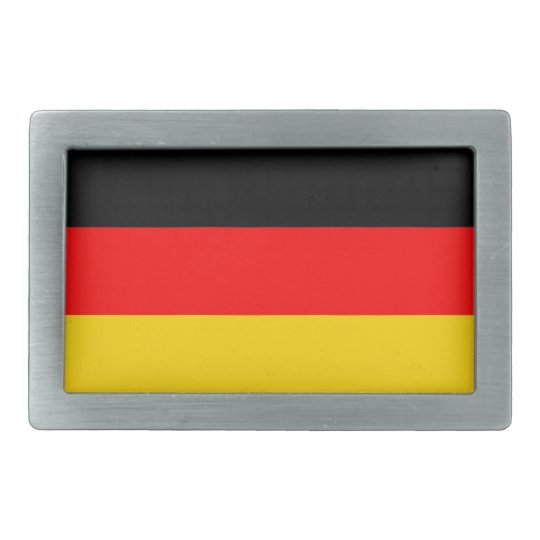 germany country flag rectangular belt buckles