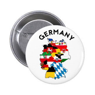 germany country political flag map region province 2 inch round button