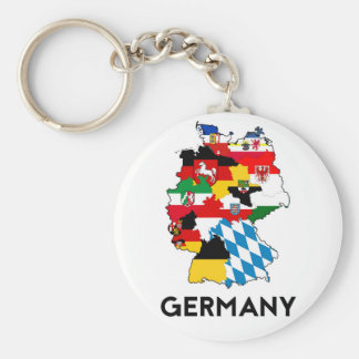 germany country political flag map region province basic round button keychain