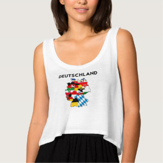 germany country political flag map region province flowy crop tank top