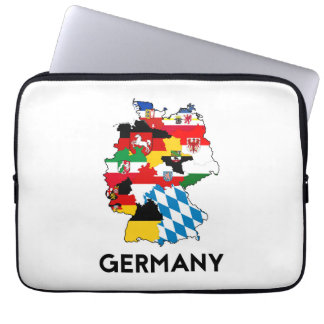 germany country political flag map region province laptop sleeves