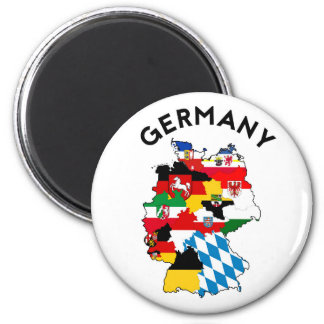 germany country political flag map region province 2 inch round magnet