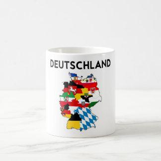 germany country political flag map region province basic white mug