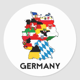 germany country political flag map region province round sticker
