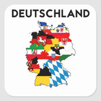 germany country political flag map region province square sticker