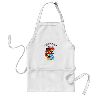 germany country political flag map region province standard apron