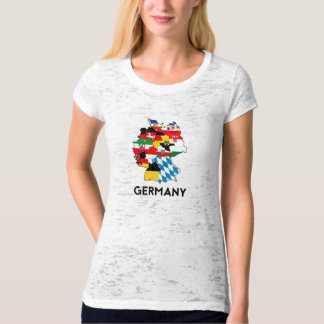 germany country political flag map region province T-Shirt