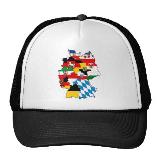 germany country political flag map region province trucker hat