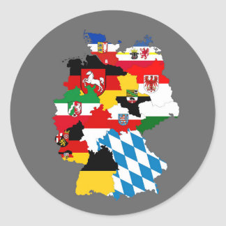 germany country regions flag map provnice symbol round sticker