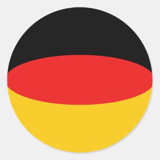 Germany Fisheye Flag Sticker