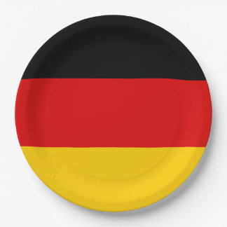 Germany Flag 9 Inch Paper Plate
