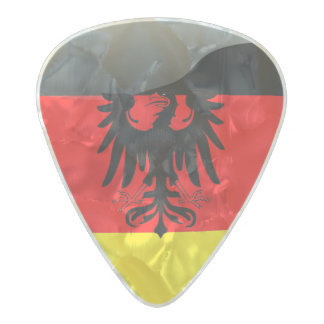 Germany flag-Coat of arms Pearl Celluloid Guitar Pick