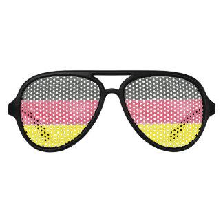 Germany Flag Colors Aviator Sunglasses